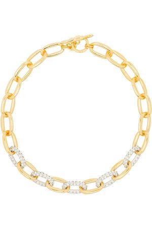 Kenneth Jay Lane Crystal embellished chain-link necklace