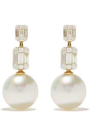 Yoko London 18kt yellow gold Starlight South Sea pearl and diamond earrings