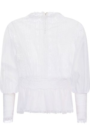 Dolce & Gabbana Sheer-panel lace blouse