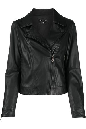 CHANEL 2010 cropped leather jacket