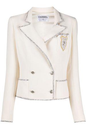 CHANEL 2000s tweed-trim jacket