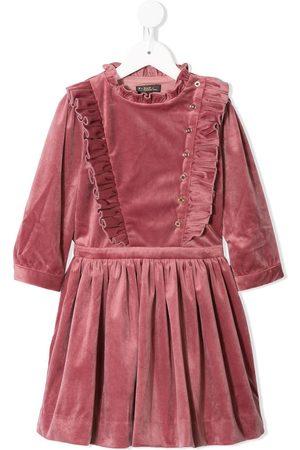 Velveteen Evelyn velvet ruffled dress