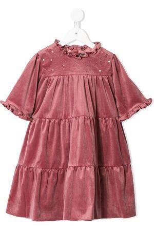 Velveteen Millie tiered velvet dress