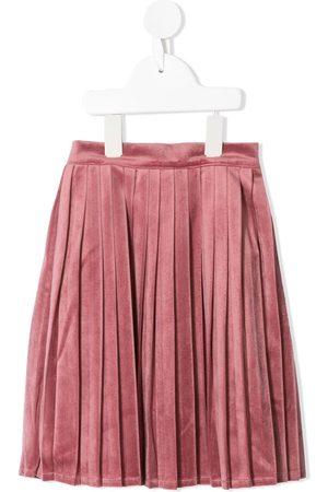 Velveteen Paola velvet pleated skirt