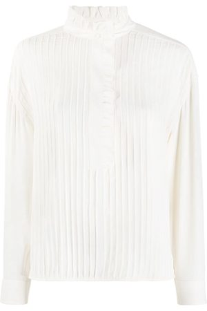 Tory Burch Ruffle detail pleated blouse