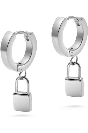 Nialaya Jewelry Padlock drop earrings