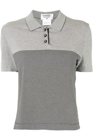 CHANEL 1997 striped polo shirt