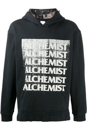 Alchemist Vintage-effect logo hoodie
