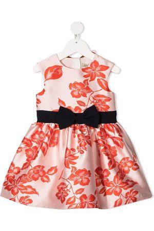 HUCKLEBONES LONDON Floral-print bow-belt party dress