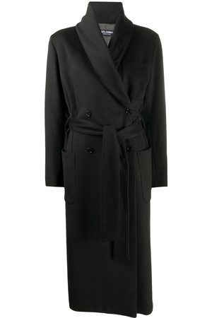 Dolce & Gabbana Double-breasted belted cashmere coat