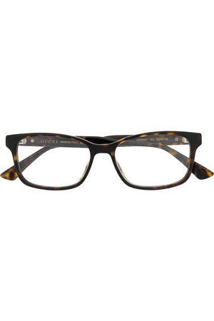 Gucci Tortoiseshell square-frame glasses