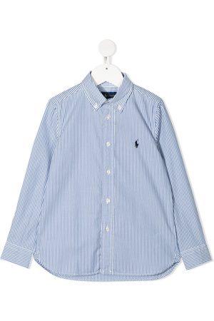 Ralph Lauren Logo-patch stripe shirt