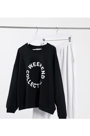 ASOS ASOS Weekend Collective Curve oversized sweatshirt with logo in