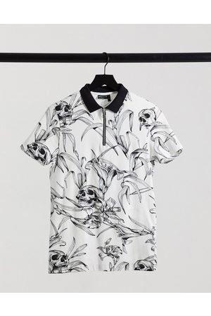 ASOS Relaxed polo in all over print