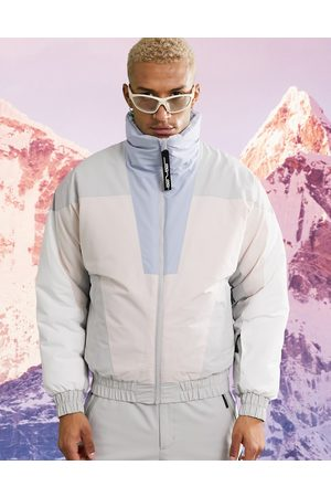 ASOS Ski jacket with pastel colour block