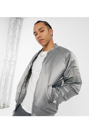 ASOS Tall oversized bomber jacket with MA1 pocket in high shine