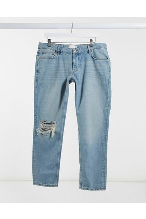 ASOS Low rise slim jeans in vintage mid 90's wash with knee rip