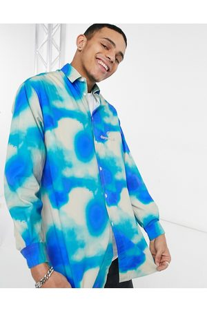 ASOS Day Social ASOS Daysocial logo tie dye oversized shirt in green