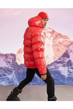 ASOS Ski padded jacket in high shine