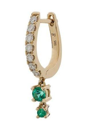 JACQUIE AICHE 14kt yellow graduated emerald diamond earring