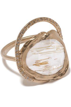 Pascale Monvoisin 9kt yellow diamond quartz Gaïa ring
