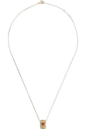 Pascale Monvoisin 9kt yellow and rose gold garnet L'amour necklace