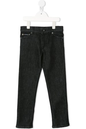 Dolce & Gabbana Logo patch slim-fit jeans