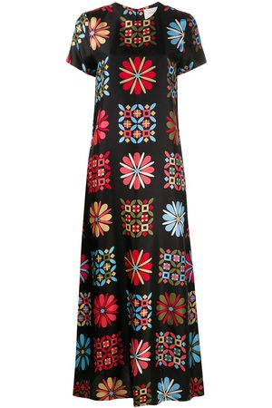 La DoubleJ Printed silk maxi dress