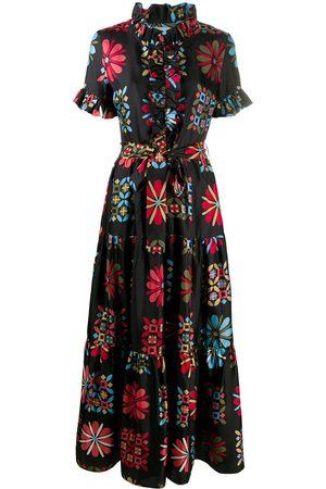 La DoubleJ Long And Sassy tiered silk dress