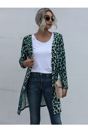 YOINS Leopard Button Design Long Sleeves Cardigan