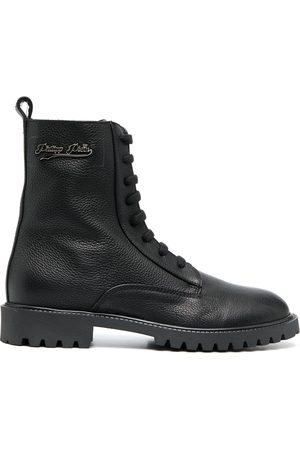 Philipp Plein Lace-up leather boots