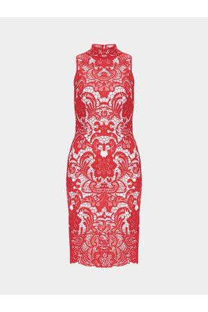 YOINS Sleeveless High Waist Pencil Dress with Lace Details