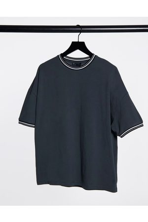 ASOS Oversized pique t-shirt with tipping in washed