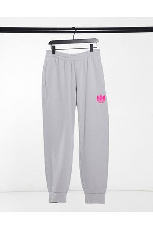 adidas Men Joggers - Joggers with pink 3D trefoil in