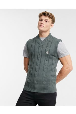 Le Breve Rib knitted vest in
