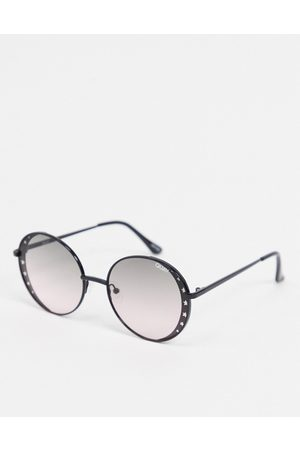 Quay Australia Seeing Stars round sunglasses with cut out star detailing in