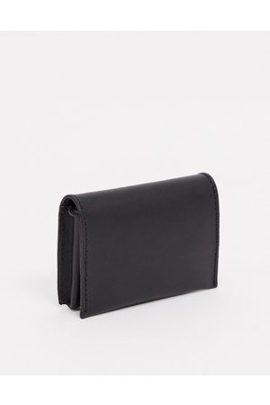 ASOS Men Wallets - Leather foldover wallet with coin zip in