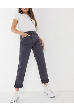 ASOS DESIGN High rise 'slouchy' mom jeans in steel