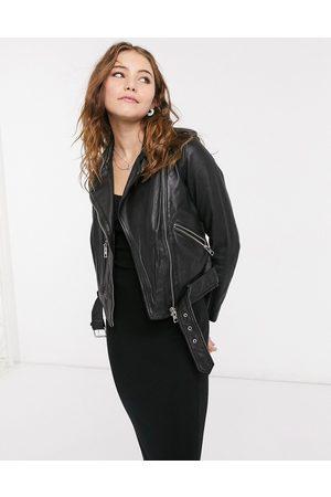 AllSaints Balfern leather biker jacket in