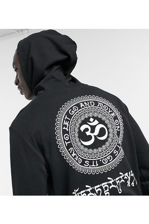 Only & Sons Oversized hoodie with Om back print in Exclusive at ASOS