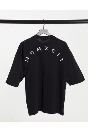 ASOS Oversized t-shirt with roman numeral front chest & back print in