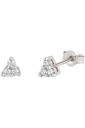 Dinny Hall 14kt white gold diamond Shuga mini trillion stud earrings