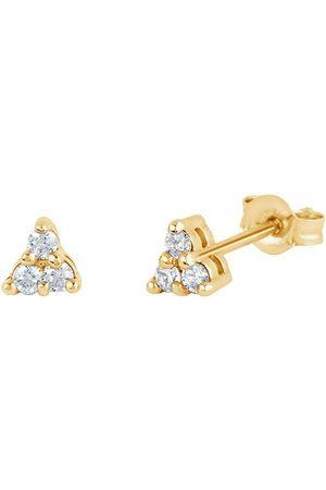 Dinny Hall 14kt yellow diamond Shuga mini trillion stud earrings