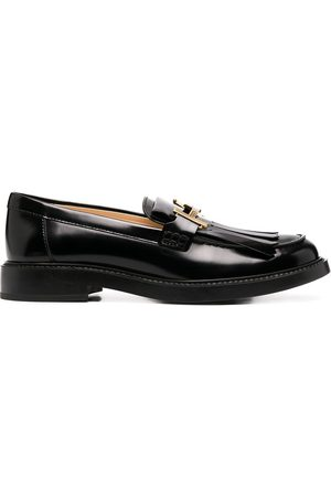 Tod's Double T buckle loafers