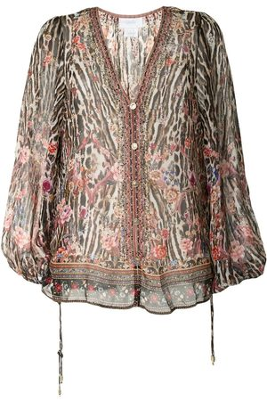 Camilla Lace-up side blouse