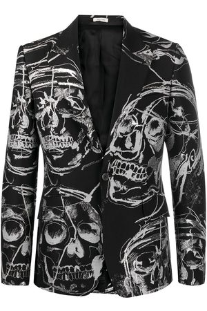 Alexander McQueen Skull-print single-breasted blazer