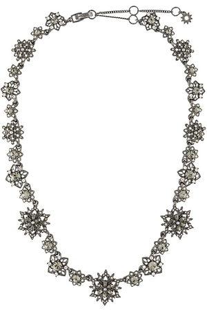 Marchesa Crystal-flower necklace