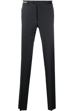 corneliani Slim fit pleated tailored trousers
