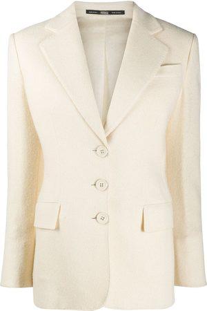 Gianfranco Ferré 1990s notched lapels buttoned blazer