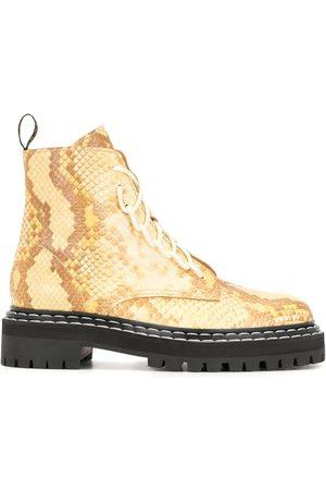 Proenza Schouler Python Lace Up Boots